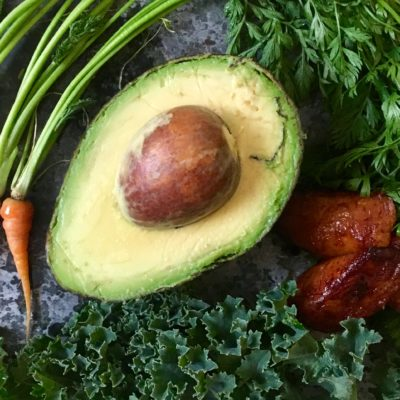 Avocado Kale Salad Ingredients