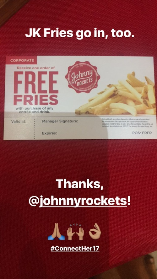 Johnny Rockets Fries are Delish